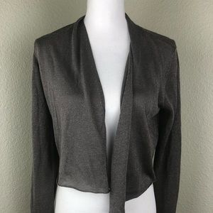 Eileen Fisher Open Front Cardigan Brown Sparkly